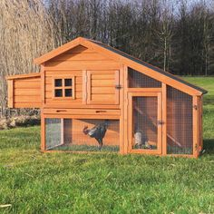 Raising chickens can be a fun and rewarding experience for any backyard farmer. This charming two-story design allows your lively flock to roam inside and outside, upstairs and downstairs, in the sun or in the shade while feeling safe and secure.