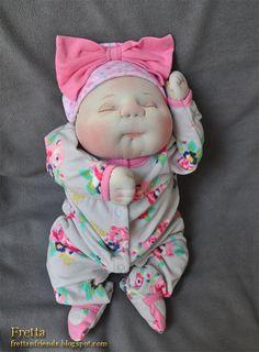 Fretta's OOAK Soft Sculptured Newborn Baby by FrettasLovableDolls