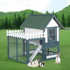 Hasenstall build yourself - more than 40 ideas and building instructions! - Making Furniture yourself DIY Baby Room, Shed, Bunny, Outdoor Structures, Building, Outdoor Decor, Diy, Guinea Pigs, Home And Garden