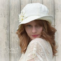 Linen Bucket Hat Women's Summer Sun Hat