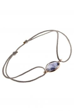 cord #bracelet with #blue iIolite I designed by iris y. for NEW ONE I NEWONE-SHOP.COM