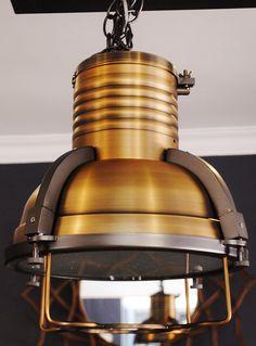 Stunning Industrial Copper Helmet Light #onlyatvintagevista