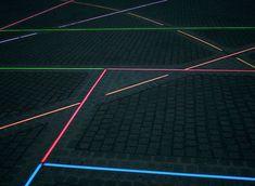 Light on the pavement. Light lab plastolux modern lighting design
