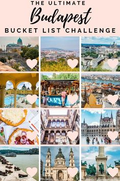This free PDF will help you to make the most out of your stay in Budapest. Check the attractions you have already seen and head to the next site. Have fun! Budapest City, Visit Budapest, Europe Travel Tips, Travel Guides, Travel Destinations, Budget Travel, Budapest Travel Guide, Hungary Travel, Romania Travel