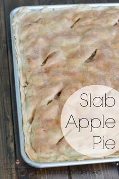 Slab Apple Pie Recipe