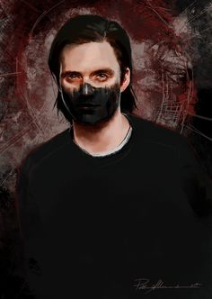 "Until My Darkness Goes | Bucky Barnes ""I look inside myself and see my heart is black I see my red door and must have it painted black Maybe then I'll fade away and not have to face the facts It's not easy facing up when your whole world is black."