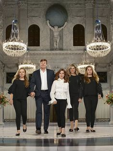 The Royal family of the Netherlands on occasion of the 5th anniversary of King Willem-Alexander April 2018 Kings Day, Royal Fashion, Royal Families Of Europe, Ariane, Erwin Olaf, Queen Maxima, Charlotte Casiraghi, Nassau, Style News