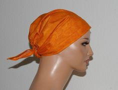"""Kopftücher - Kopftuch """"Ella"""" in Orange - ein Designerstück von beHUETE-dich bei DaWanda"""