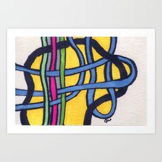 Loops Art Print by carog Online Art Gallery, Designs To Draw, Design Art, Art Pieces, Fine Art Prints, Drawings, Or, Artworks, Art Prints