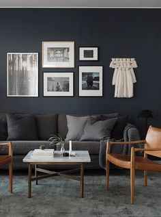 Blue and Black Living Room. Blue and Black Living Room. Blue Accents Fun Chandeliers Black Chandelier to Dark Living Rooms, Living Room Carpet, Home Living Room, Living Room Designs, Living Room Furniture, Brown Furniture, Small Living, Modern Living, Dark Grey Couches