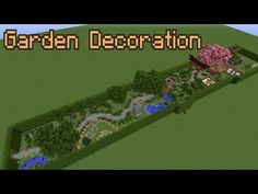minecraft garden decoration ideas youtube