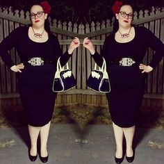 """WEBSTA @ missallykat1 - Slaying the locals with my """"casual style"""" for dinner and a movie. #vixenbymichelinepitt #louelladeville #yosps #gwynnies #vixen #besamecosmetics #besame #redhotred #hellbunny #lbd #littleblackdress #pinup #pinupgirl #plussizepinup #aussiepinup #curvy #retro #modernpinup #retrostyle #50sstyle #ootd #wiw #vintagestyle #nightout #redlips #mystyle #style #curvygirl #curvypinup #curves"""
