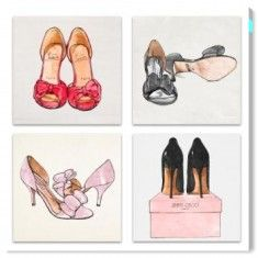 Oliver Gal My Shoes - Set of 4 Wall Art from The Well Appointed House