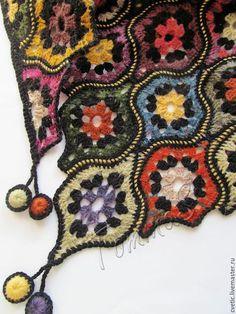 Купить или заказать Шаль вязаная 'Арабские ночи' в интернет-магазине на Ярмарке Мастеров. Вязаная шаль выполнена из качественных шерстяных и полушерстяных пряж с небольшим содержанием мохера. Шаль легкая, слегка пушистая, не колючая, очень мягкая и приятная к коже. Форма элементов, стилизованных под арабский четырехлистник, имеет выраженный восточный колорит, но при этом шаль эффектно дополнит Ваш образ, как аксессуар в этно или кантри стиле.