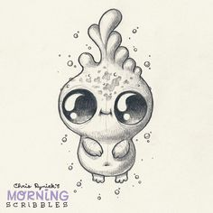 cute art by Chris Ryniak Dewdrop. #morningscribbles