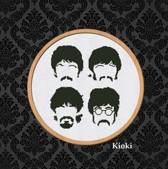 Beatles Pattern #beatles #lennon #rock #music #crossstitch