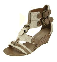 """**Coupon Code!** These darling sandals are only $30.60, plus get 10% off your entire order & FREE shipping with discount code """"SAVE10"""" at checkout! #shoes #sandals #gladiator"""