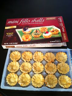 Make-Ahead (and freeze) Sausage Phyllo Cups - use other recipe but with these instructions