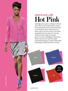Instyle-What to wear with hot pink