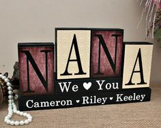 Personalized Gift For Nana Christmas Gift Idea by TimelessNotion