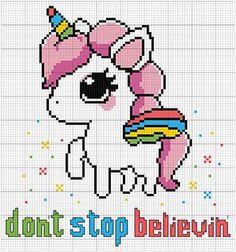 Embroidery Projects Cute unicorn funny cross stitch pattern available on Etsy Unicorn Cross Stitch Pattern, Funny Cross Stitch Patterns, Cross Stitch Designs, Pixel Art, Crochet Unicorn Blanket, Art Perle, Pixel Pattern, Crochet Cross, Plastic Canvas Patterns