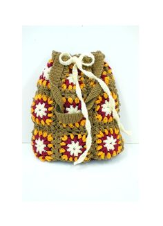 Granny style crochet bag in brown orange and by NatbeesFashion, $70.00