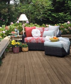 Cleaning and treating this Massachusetts deck with Thompson's Water Seal products gets it ready to stand up to tough winters.