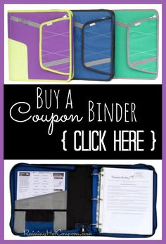 Buy A FULLY Loaded Coupon Binder! http://www.raininghotcoupons.com/couponbinder/
