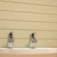 """Glass Subway Tile (Beige) - 3"""" x 6"""" Piece. $1.87 Per Tile from Wholesalers USA"""