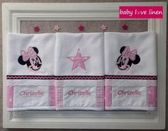 Burp Cloth Set, Baby Love, Decorative Items, Minnie Mouse, Nursery, Decorative Objects, Babies Rooms, Baby Room, Child Room