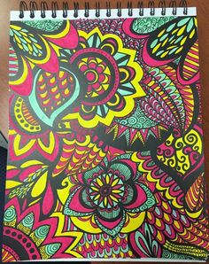 ColorIt Calming Doodles Volume 1 Colorist: Lisa Lifton Lubrano #adultcoloring #coloringforadults #adultcoloringpages #doodle