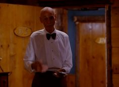 New party member! Tags: season 2 episode 1 twin peaks showtime smiling waiter great northern hotel