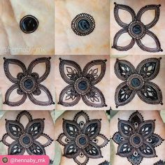 Step-by-step henna design by @hennaby_mk #repost #mehndi #mehndiart #mehndidesign #hennatattoo #hennaartist #hennadesign #bodyart #hennamagix