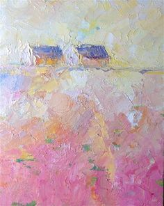 """Cottages and pink"" - Joseph Mahon"