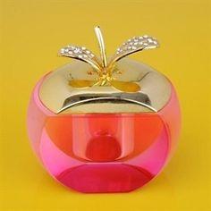 Crystal Apple Perfume Bottle by shwagn Perfume Atomizer, Antique Perfume Bottles, Vintage Perfume Bottles, Pink Perfume, Glas Art, Beautiful Perfume, Bottles And Jars, Decoration, Forbidden Fruit