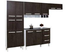 Cozinha Compacta Somopar Milena 11 Portas - com Espaço para Garrafas + Balcão com Tampo