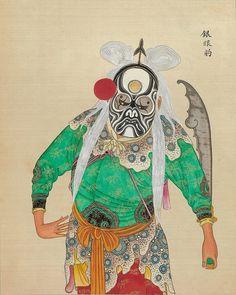 Chinese Opera figure.  Cigarette Card
