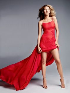 Blake Lively   Red dress by HM