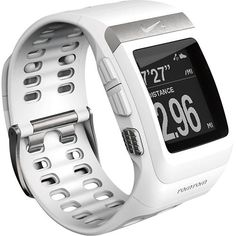 Nike+ SportWatch GPS (White/Silver) High performance sports watch with GPS receiver that delivers highly accurate pace and distance data whi. Running Gps, Running Nike, Running Watch, Running Shoes, Trail Running, Nike Watch, Gps Sports Watch, Site Nike, Sport Watches
