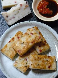 Chinese daikon radish cake: a dim sum staple that should be ever-so-slightly crisp on the outside, tender and melt-in-your-mouth on the inside.