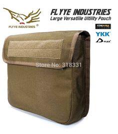 (Super Big) Genuine FLYYE PH C037 1000D CORDURA Waterproof Nylon Tactical Molle Pouch Gear Bag Tools Accessories Utility Pouchs 28( L ) *7( W ) *27 ( H )CM