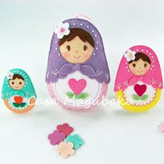 Felt Matryoshka Doll Tutorial  DIY Embellishment by CasaMagubako