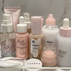 Image about cute in selfcare by Bébé on We Heart It Beauty Care, Beauty Skin, Watermelon Face, Perfume, Aesthetic Makeup, Skin Makeup, Makeup Kit, Self Care, Asian Makeup