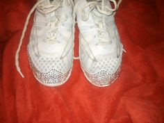 eef7b482ebc0b1 Bling on the toes of cheer shoes... better be wearing your shades!