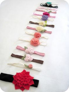 Headband tutorials.... VERY far into the future :) , I would love to make these for a baby girl!