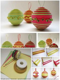 Rolled Paper Ornament | 36 Adorable DIY Ornaments You Can Make With The Kids