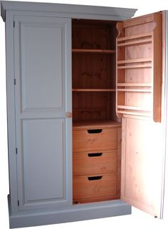 larder or provisions cupboard kitchen solid wood hand made in uk