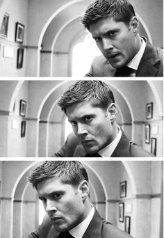 "Dean Winchester  ""Time for a Wedding!"" I couldn't even deal with this episode. I was making the same faces as dean just staring in disbelief"