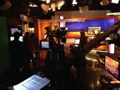 Lots of action behind the scenes while the show is on the air.
