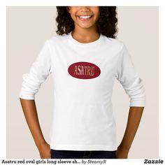 Asatru red oval girls long sleeve shirt